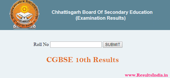 CGBSE 10th Class Result 2020