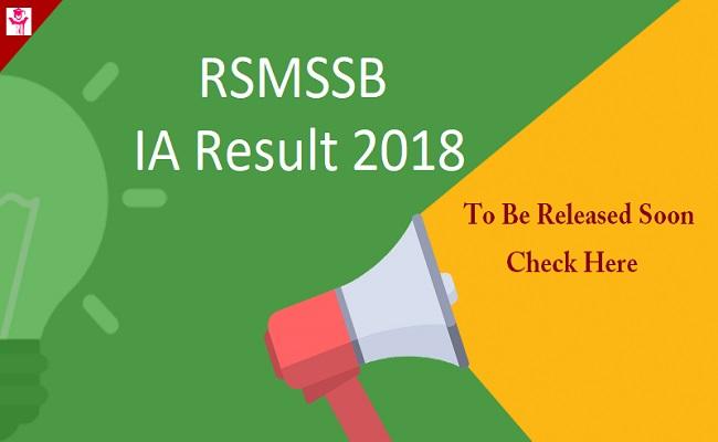 rsmssb ia result 2018