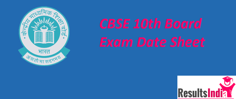 CBSE 10th Class Date Sheet 2021 (Time-Table)