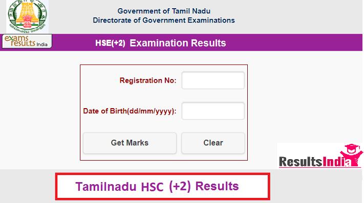 Tamilnadu HSC (+2) Results 2020