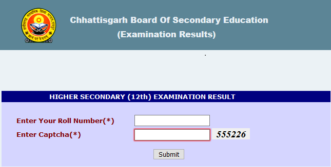 CGBSE 12th Class Results 2020
