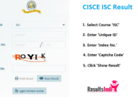 CISCE ISC 12th Class Board Results 2021